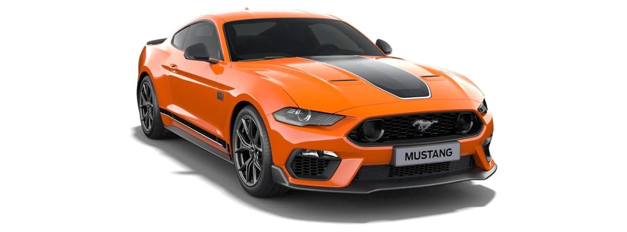 Carros Novos Mustang Mach 1 Laranja Astana Ford Brenner Veículos