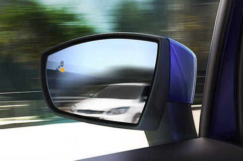 Sistema de Monitoramento de Ponto Cego (BLIS®) com Alerta de Tráfego Cruzado (CTA)