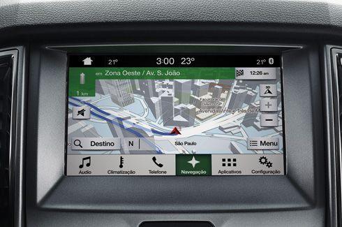 """SYNC® 3 com Sistema de Navegação e tela de 8"""""""