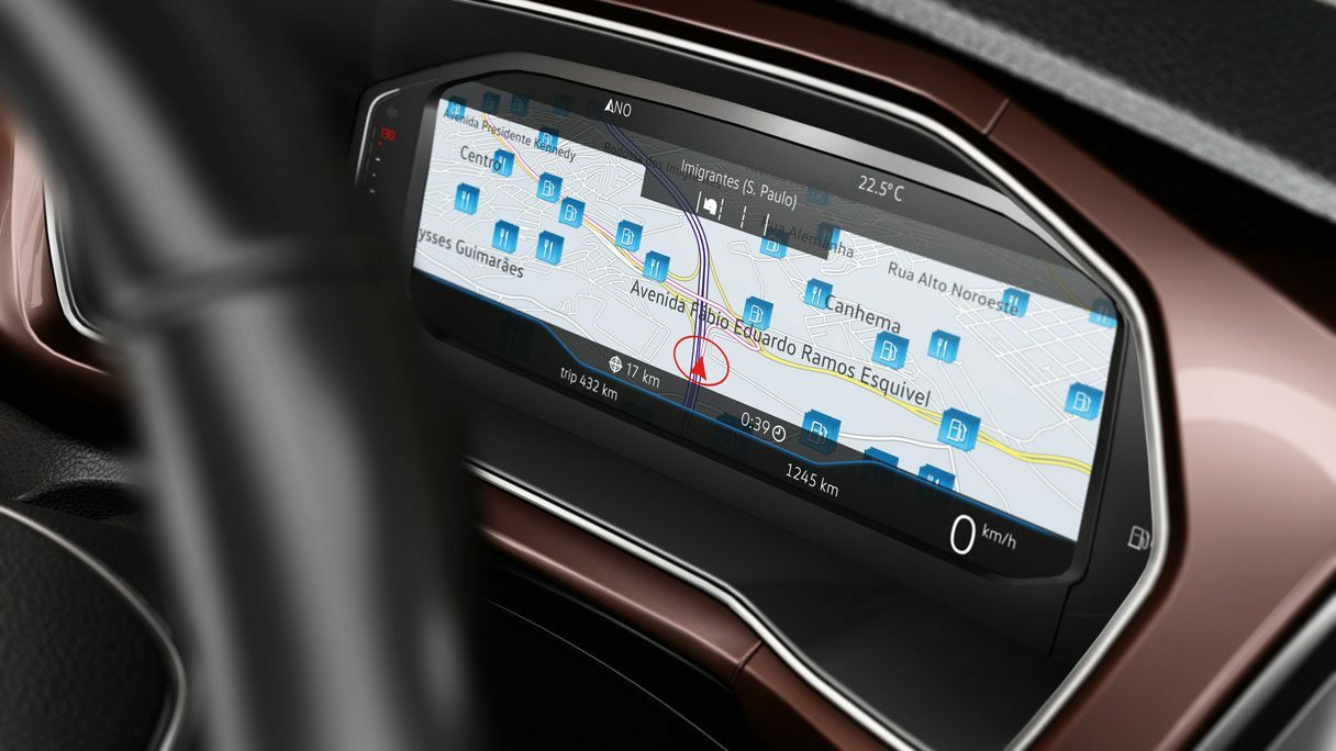 Active Info Display: entretenimento, navegação e dados do veículo conforme sua configuração