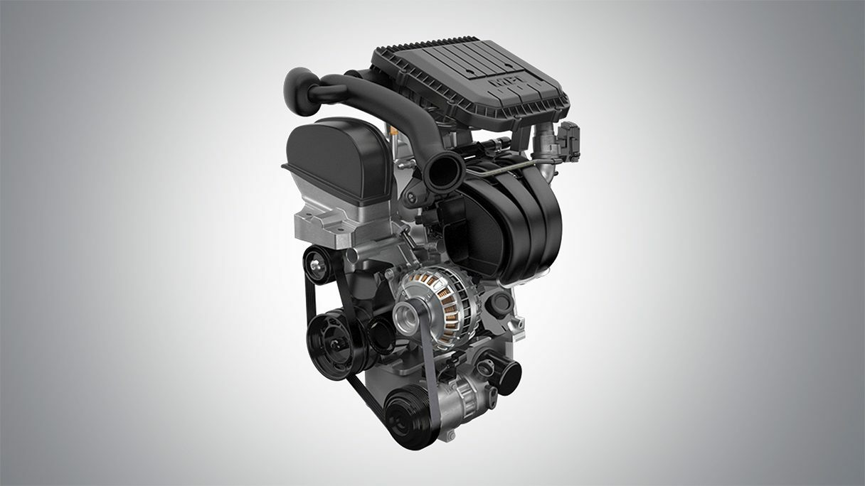 Motor 1.0L. Surpreendente, com três cilindros Total Flex